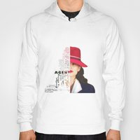 peggy carter Hoodies featuring Agent Peggy Carter by Sindhu Tngm
