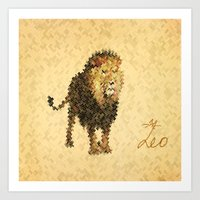 leo Art Prints featuring LEO by SensualPatterns