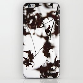 flowers and leaves: diptych iPhone Skin