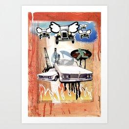 COLLAGE: Cars Art Print