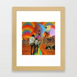 A Moonlight Drive Framed Art Print