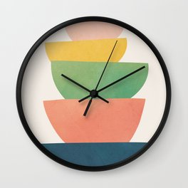 Stacked Pots Wall Clock