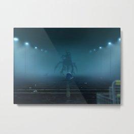 A Figure Metal Print