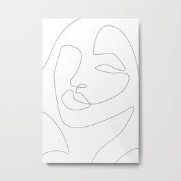 Shaped Face Metal Print
