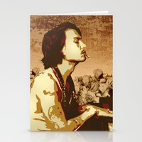 johnny depp Stationery Cards featuring Johnny Depp by victorygarlic