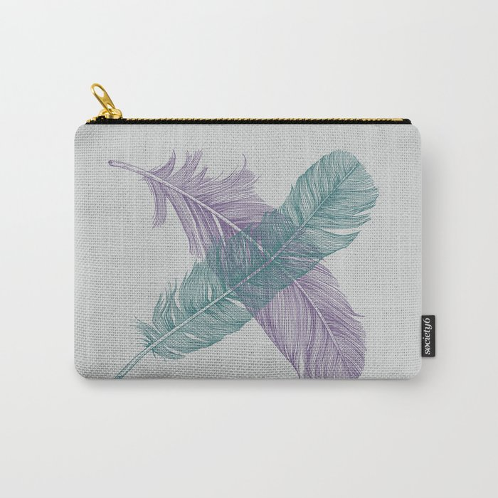 X Feathers Carry-All Pouch