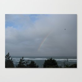 Rainbow over the Ocean Canvas Print
