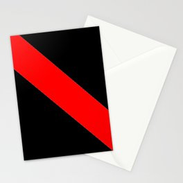 Oblique red and black Stationery Cards