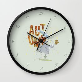 Hop, little bunny - autumn Wall Clock