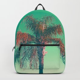 Red palm tree Backpack
