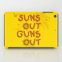 guns iPad Cases featuring Guns Out by Free Specie