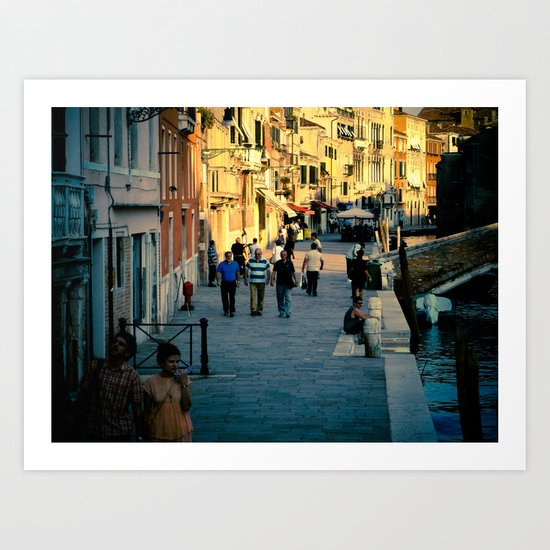 Along the Canal Art Print