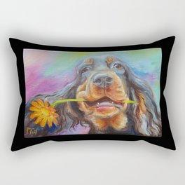 Black Valentine gift for Gordon Setter Dog Lover Rectangular Pillow