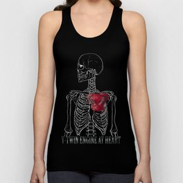 V-Twin Engine at Heart_Black Unisex Tank Top