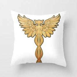 Caduceus Moon Throw Pillow