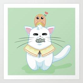 Fatty Catty - Hunter kitti Art Print