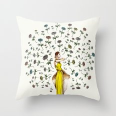 Paris Summer | The Flower Girl Throw Pillow