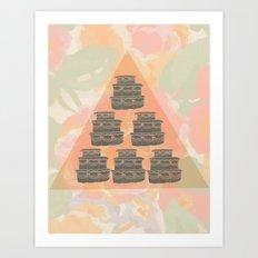 Cake and Flowers Art Print
