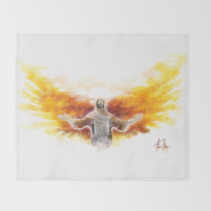 On Wings Like Eagles (Isaiah 40:31) Throw Blanket