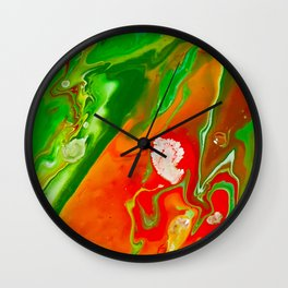 Emerald Marble Wall Clock