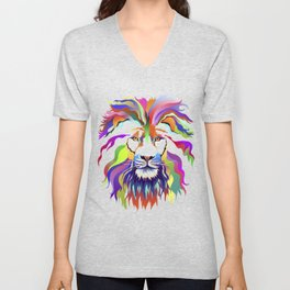 The Lion of Technicolor Unisex V-Neck