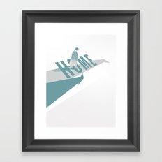Home (Blue) Framed Art Print