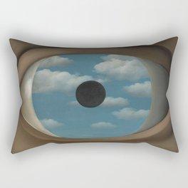 Rene Magritte False Mirror Rectangular Pillow