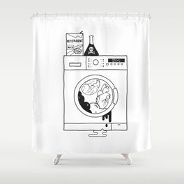 brain washed. heart washed Shower Curtain