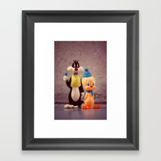 Silvester and Tweety Framed Art Print
