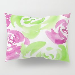7  |  190413 Flower Abstract Watercolour Painting Pillow Sham