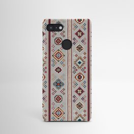 Caucasian Rugs(Stripe) - White Android Case