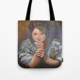 A Young German Woman In Traditional Dress Tote Bag