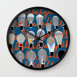 Lightbulbs Wall Clock