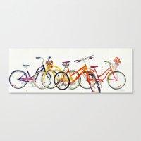 bikes Canvas Prints featuring bikes by takmaj