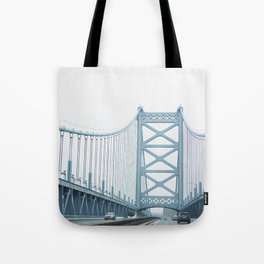 The Ben Franklin Bridge Tote Bag