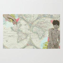 Feminine Collage I Rug