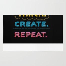 Think. Create. Repeat.  Rug