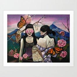Isabela at Cristina Art Print