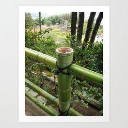Japanese bamboo facade Art Print