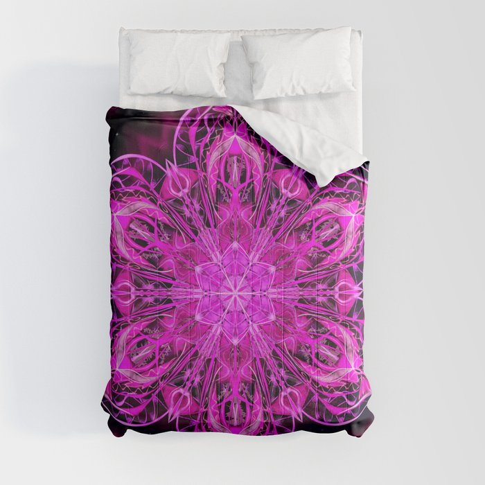 Starry Snow Spiral Comforters