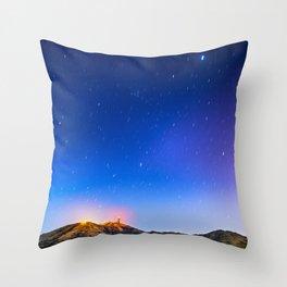Starry sky Throw Pillow