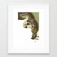 daenerys Framed Art Prints featuring The Serpent Mother by Luis Uzcategui