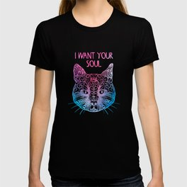 Mandala cat wants soul T-shirt