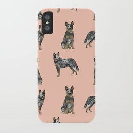 Australian Cattle Dog blue heeler dog breed gifts for cattle dog owners iPhone Case