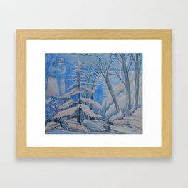 2 Under de snow Framed Art Print