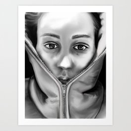 its cold outside Art Print