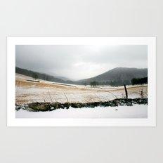 Mountain Winter Art Print