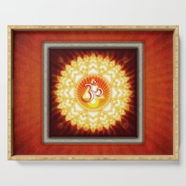 Sahasra Chakra - Crown Chakra Golden - First Editon .I Serving Tray