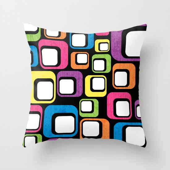 Retro All Sorts. Throw Pillow