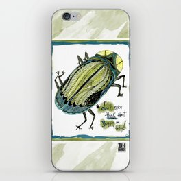 Don't Even Think About Bugging Me Today! iPhone Skin